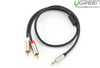 Cáp Audio 3.5mm To 2 RCA 1m Ugreen 20821 Mạ Vàng