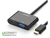 Cáp HDMI To HDMI, VGA Ugreen 40744 (Nguồn 5V + Audio 3.5mm)