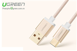 Cáp USB-C, Cáp USB Type-C to USB 2.0 1M UGREEN 20860 Gold Rose Cao cấp