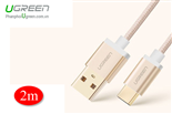 Cáp USB-C, Cáp USB Type-C to USB 2.0 2M UGREEN 20862 Gold Rose Cao cấp