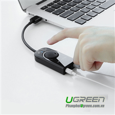 USB Sound 3.5mm Loa & Mic Có Volume control UGREEN 40964